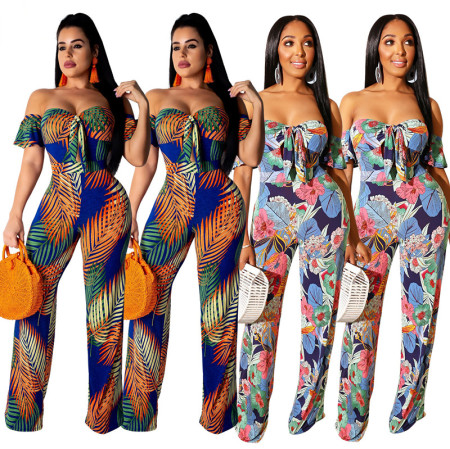 Bohemian Wind Printed Jumpsuit, 2019