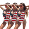 Fashionable sexy American flag printed swimsuit in Europe and America