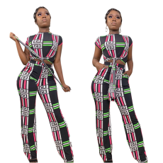 Printing Leisure Personality Two-piece Set
