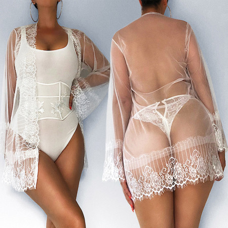 Temptation Perspective Underwear + Band Long Sleeve Outer Cover