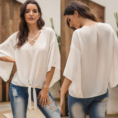 Fashion Cross V-neck T-shirt Pure and Simple