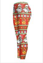 Christmas 3D Digital Printing Stretch Tight Bottom Leggings