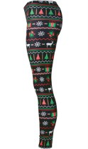 Christmas 3D Digital Printing Stretch Tight Bottom Leggings
