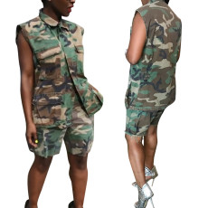 Camouflage casual two-piece suit