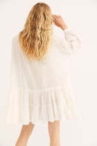 Human cotton layers of lace loose holiday sunscreen skirt