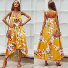 Bohemian Wind dress with open chest and knot
