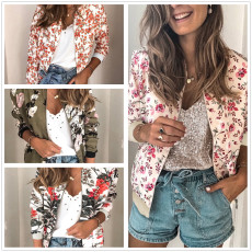 Fashion printed zipper Long Sleeve Jacket
