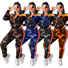Camouflage Sports Two-piece Suit