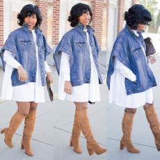 Irregular loose jeans jacket