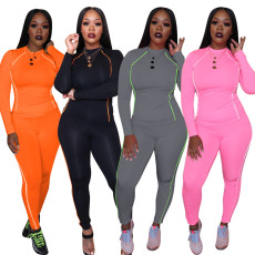 Sports and Leisure Long Sleeve Pants Suit Two-piece Suit