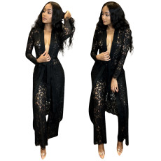 Lace pants Cape two piece set available