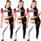 Fashion casual short-sleeved sports trousers suit
