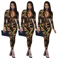 Tight camouflage Jumpsuit