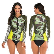 Split long sleeve diving, surfing and swimming suit