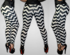 Casual stripe checkered digital printing pants
