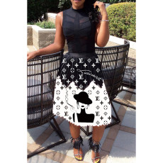 Fashion casual print skirt