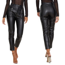 Leather pants casual elastic Leggings