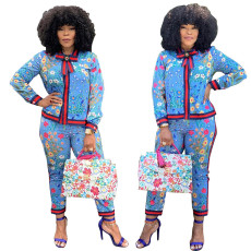 Fashion casual printing suit