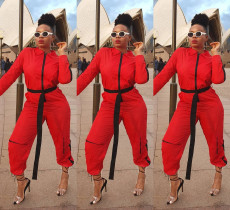 Fashionable and casual splicing Jumpsuit