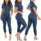 Sexy and fashionable jeans Jumpsuit