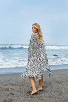 Leopard point Pajama home clothes holiday jacket