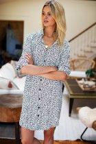 Shirt with small spot pattern sun proof shirt and skirt