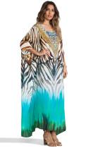 Beach skirt orientation printing holiday long blouse