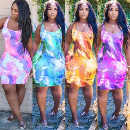 Fashion Tie Dye Dress