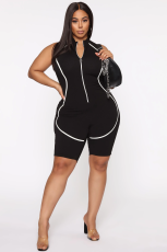 Sexy tight stripe sports Yoga casual Jumpsuit