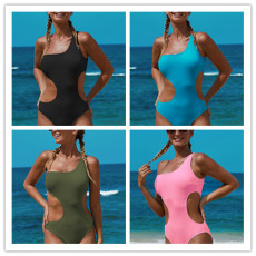 Knitted thread jacquard one piece swimwear