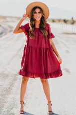 Solid Ruffle Dress