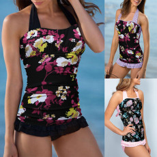Sexy bathing suit printed swimming pool party suit