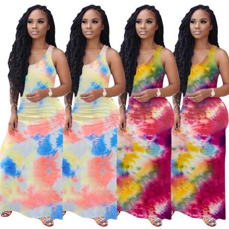 Gradient Pleated Dress