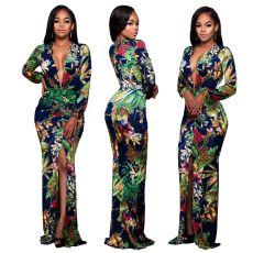 Sexy fashion print panel dress