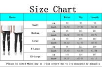 Fashion trend Black Slim cut zipper men's jeans