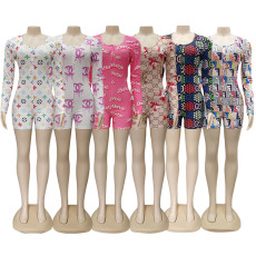 Fashionable printing home clothes Jumpsuit