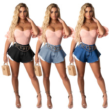 Fashionable sexy fan-shaped shorts