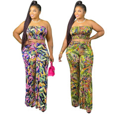 Sexy fashion digital print suit