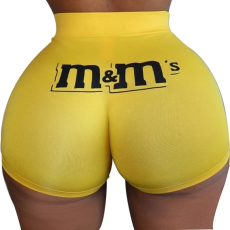 Sexy tight shorts Print Shorts Yoga Pants