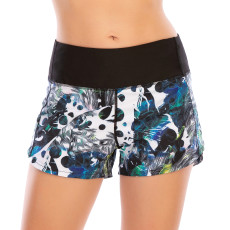 Quick dry fitness lined sports YOGA SHORTS