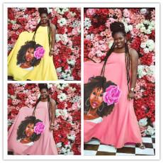 Printed fashion street dress