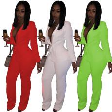Temperament professional slim suit long sleeve coat pants two piece suit