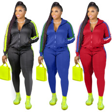 Fashion and leisure splicing suit