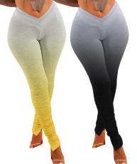 Gradient Leggings double waist pants
