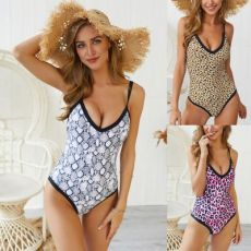 Leopard Snake Print One Piece Bikini one piece
