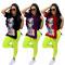 Fashion loose printed short sleeve 2-piece set