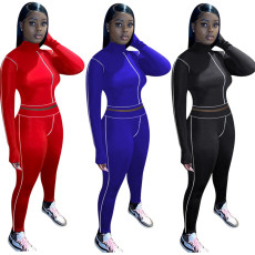 Sports casual long sleeve pants suit