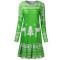 Slim fitting long sleeve Christmas print skirt dress