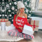 Letter printed leisure home wear Christmas suit
