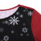 Fashion Christmas print medium length crew neck T-shirt